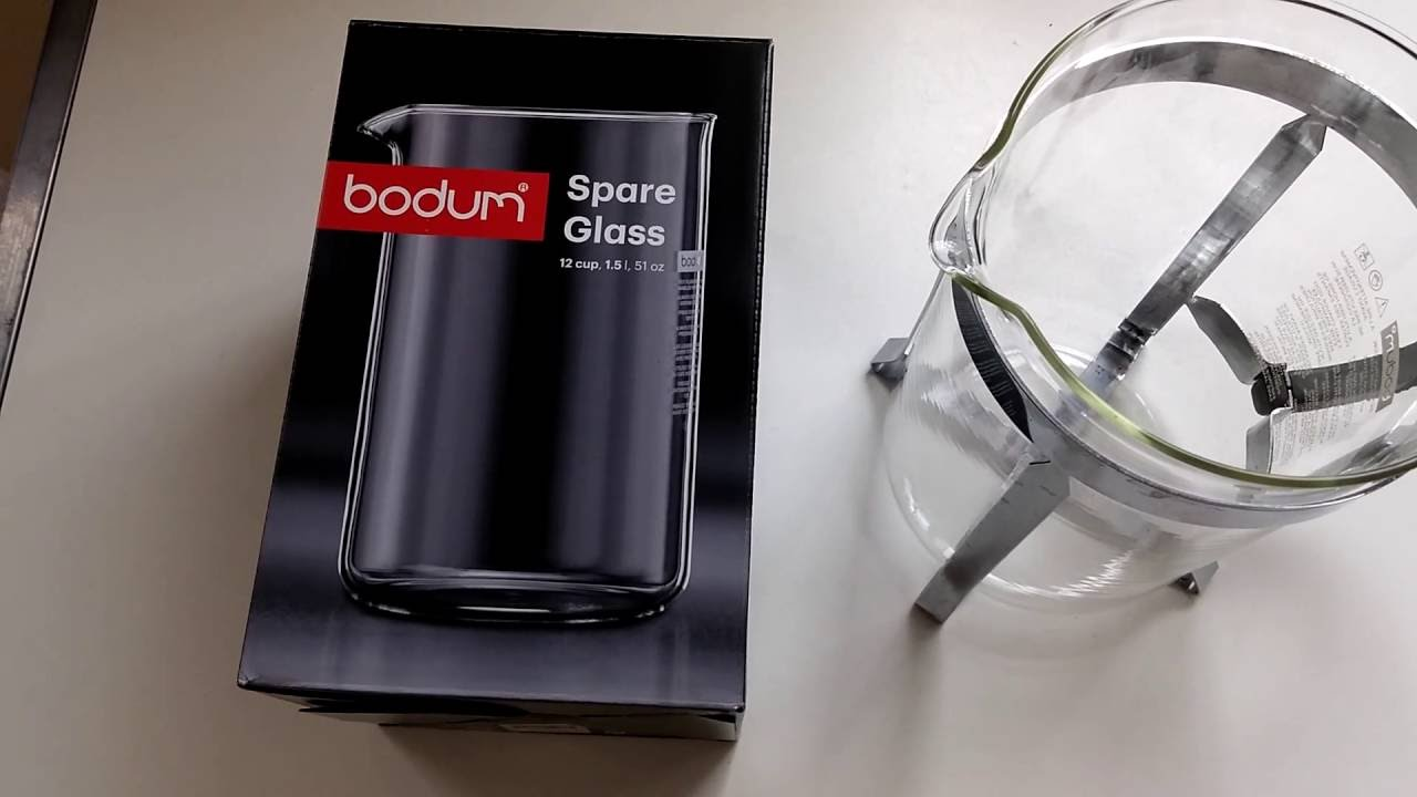 Bodum french press replacement glass - Bodum Replacement Glass For 12 Cup Cafetiere