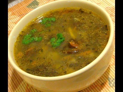 Грибной суп с вермишелью в мультиварке