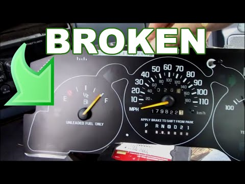 How to replace a fuel gauge that is broken - YouTube