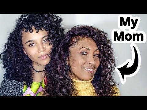 My MOM Tries My DEVACURL Curly Hair Routine