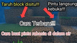How to make simple secret door in water || Minecraft Tutorial #7
