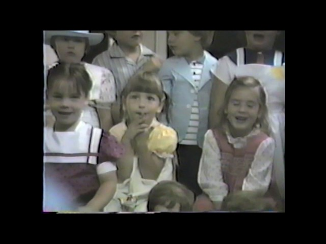 Friendship Nursery School Graduation - June, 1986