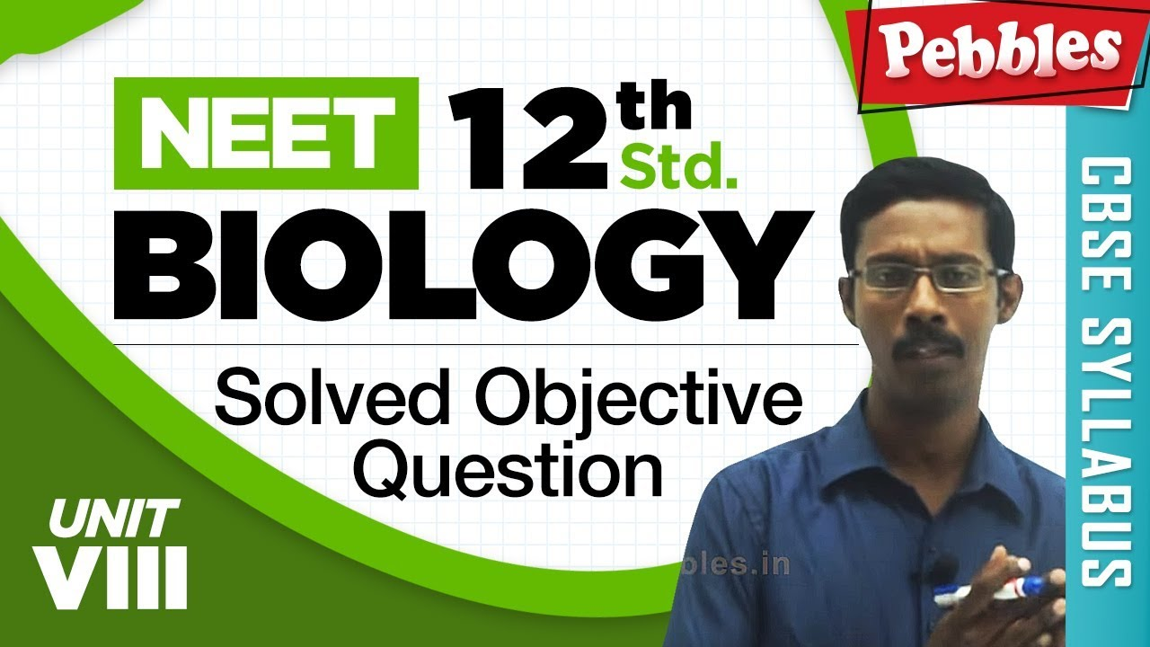 NEET 12th Biology || Human Diseases of Man || Solved Objective Question || Unit-VIII