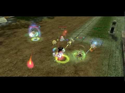 Silkroad 1v3 Thief vs Hunter - NeSRO - Never Ending Silkroad 80 Cap - Pure STR