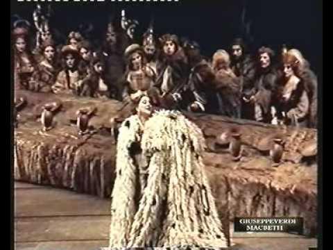 Giuseppe Verdi Macbeth Brindisi Atto secondo Si colmi il calice Mara Zampieri Lady Macbeth Paolo Coni Macbeth