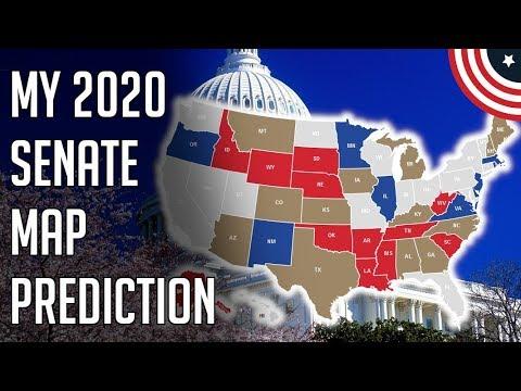 My 2020 Senate Elections Predictions - 2020 Senate Map Predictions - October 2019