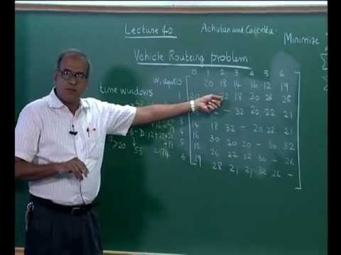 Mod-09 Lec-40 Vehicle Routeing Problems