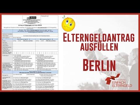 Elterngeldantrag ausfüllen - Berlin