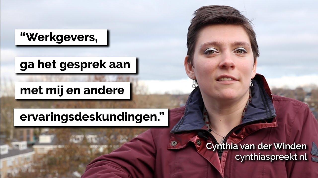Cynthia spreekt voor een inclusieve arbeidsmarkt