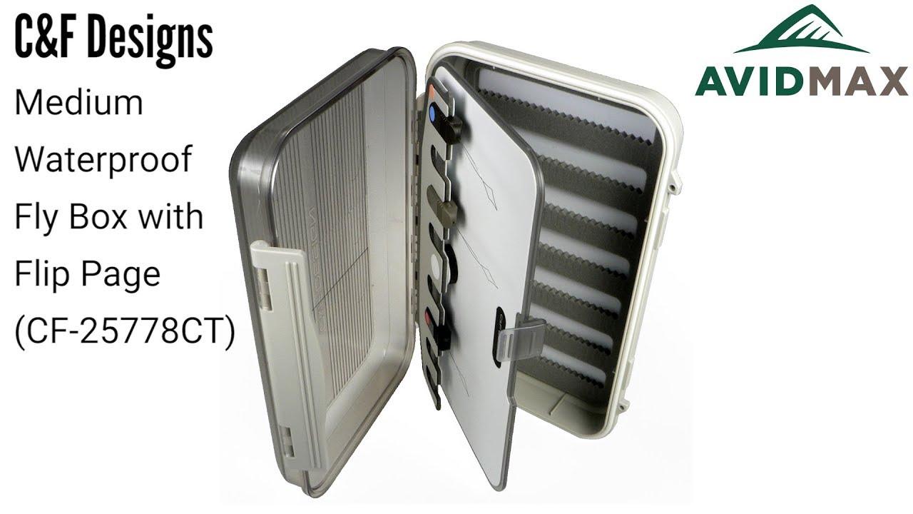 C/&F Design CF-2577 Medium Microslit Foam Fly Box MSF