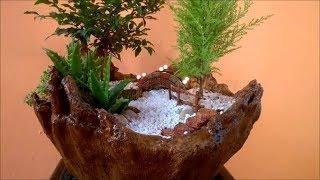 DIY Vaso para Mini Jardim Feito de Toalha