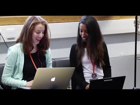 Elsevier software engineers in Helsinki, Finland mentoring hackers