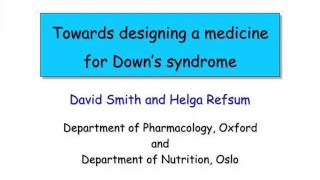 "Professor David Smith ""Towards designing a medicine for Down's syndrome"" Thumbnail"