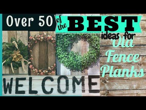 diy-repurposed-old-wood-and-fence-planks-#farmhouseideas