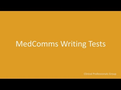 MedComms Writing Tests