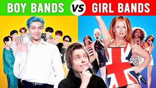 Boy Bands vs Girl Bands