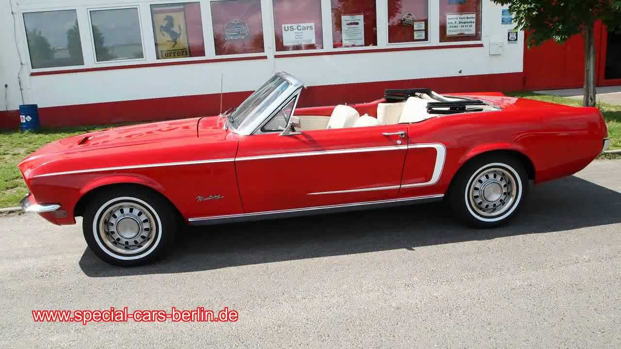 ford mustang 1968 cabrio v8 mit kr ftigem sound youtube. Black Bedroom Furniture Sets. Home Design Ideas