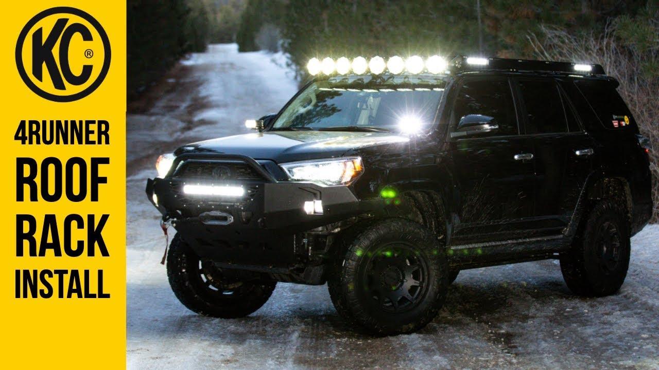 Toyota 4runner Roof Rack And Integrated Lighting Install Kc M Racks Youtube