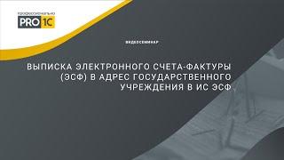 Выписка электронного счета-фактуры (ЭСФ) в адрес государственного учреждения в ИС ЭСФ