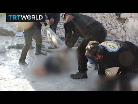 War in Syria: Activists say Syrian regime dropped chemical bombs in Idlib province