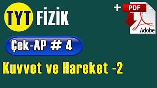 Kuvvet Hareket -2 +PDF  TYT Fizik Çek-AP 4 çekap tytfizik