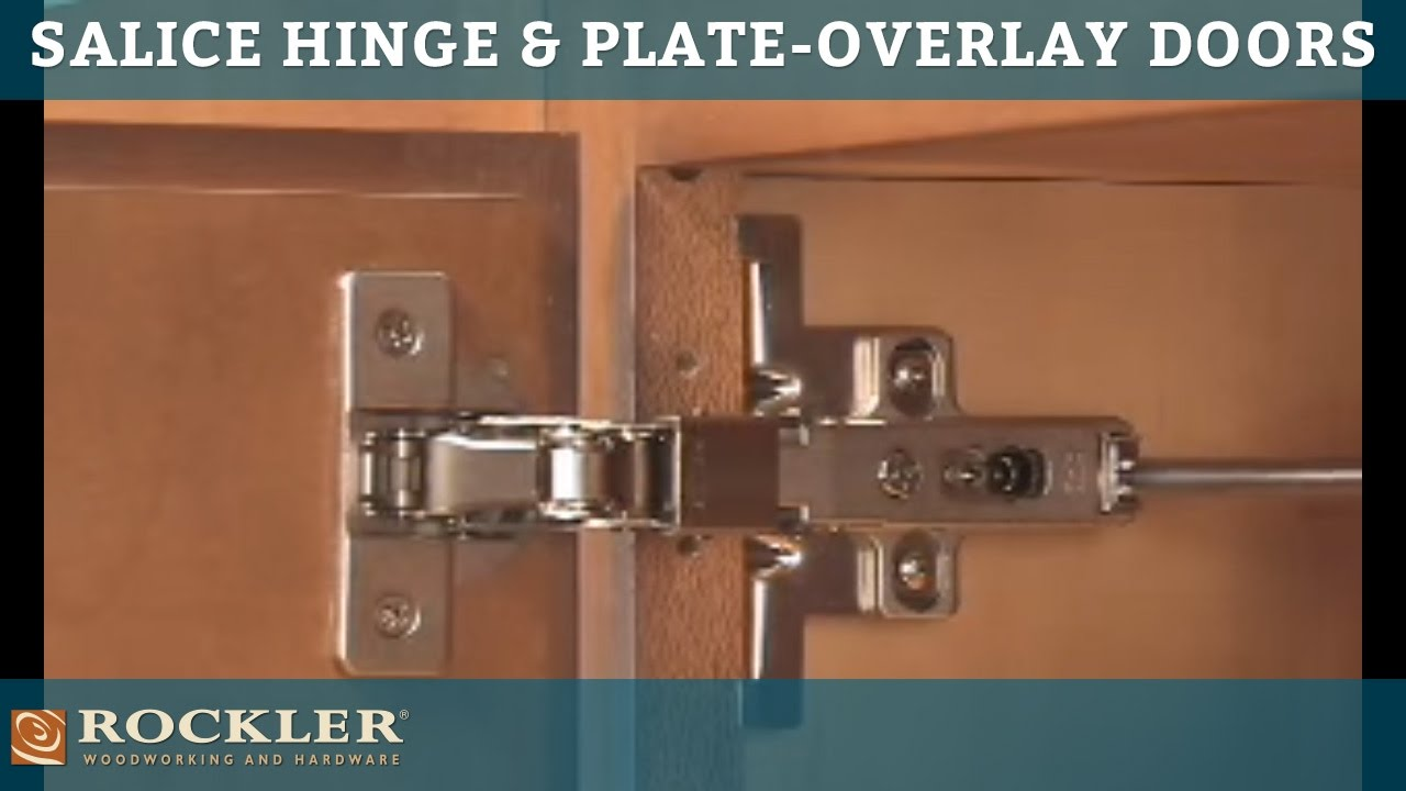 Rocklers Salice Hinge and Plate for Overlay Doors  YouTube