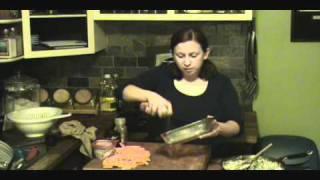 Butternut Squash Gratin With Savory Garlic, Sausage And Spinach Cream Sauce