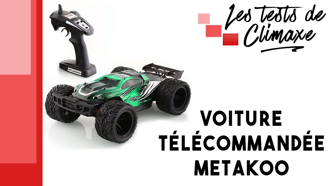 test d 39 une voiture radiocommand e voiture t l command e metakoo de couleur verte 40km h youtube. Black Bedroom Furniture Sets. Home Design Ideas