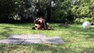 Badass wrestling match, Nick vs. Jeremy
