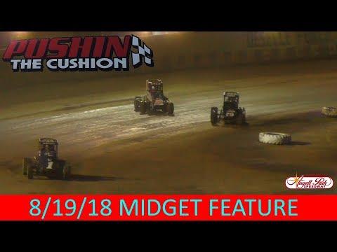 Angell Park Speedway - 8/19/18 - Midgets - Feature