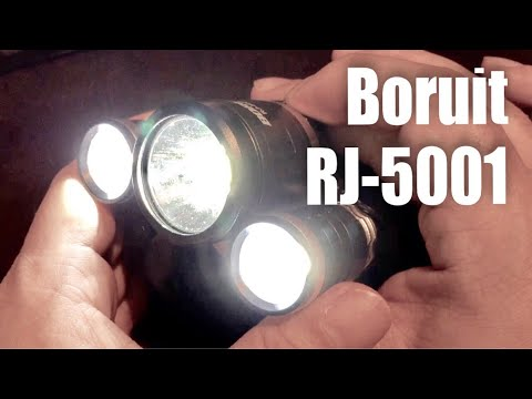 Boruit RJ-5001 6000LM 3 x XM-L2 CREE LED Rechargeable Headlamp
