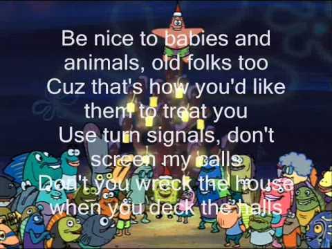 Spongebob Squarepants: Don't Be a Jerk (It's Christmas) Lyrics ...
