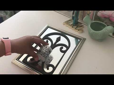 Dollar Tree DIY Wrought Iron Mirrored Wall Sconce - Quick & Easy Less than $3