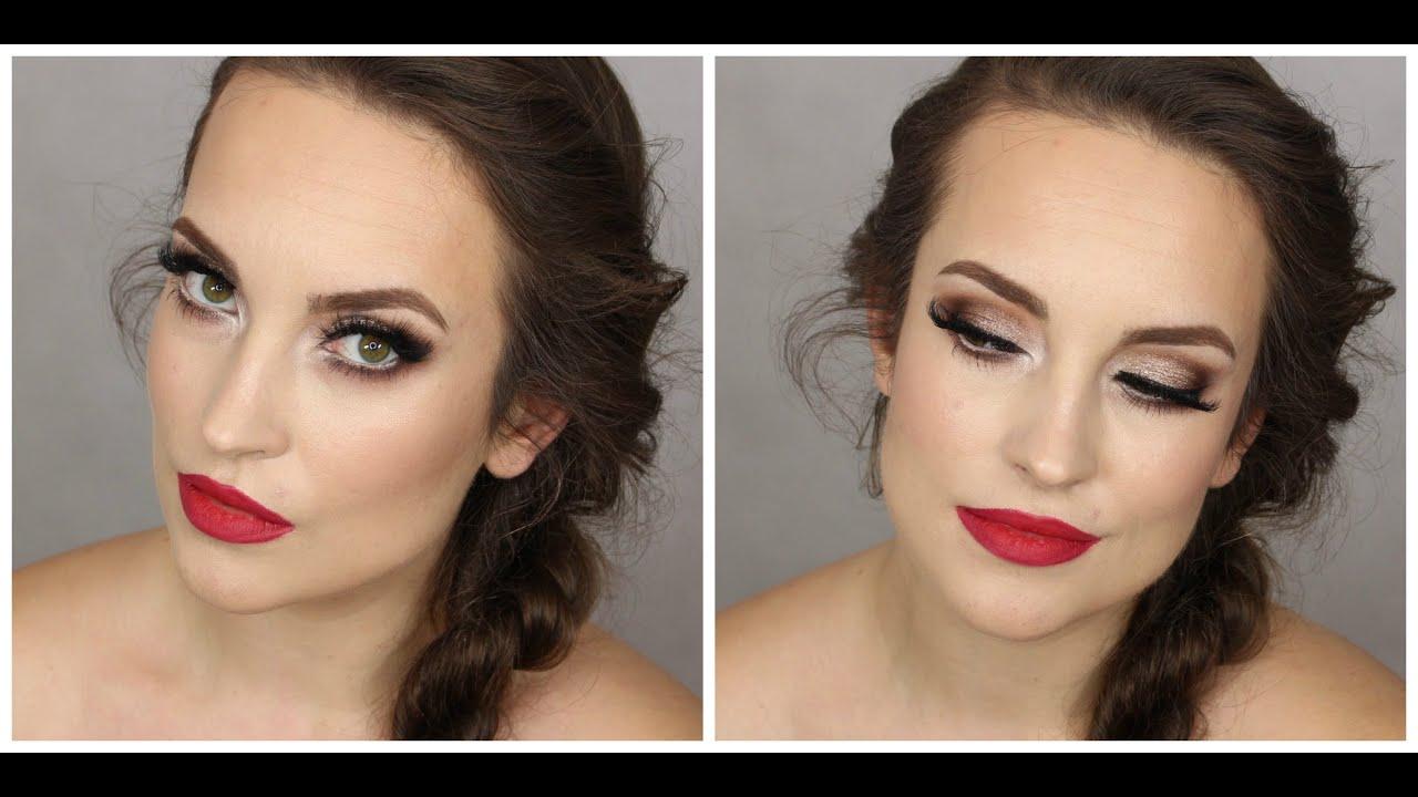 Full Glamour Evening Make Up Wieczorowy Makijaż Czerwone Usta