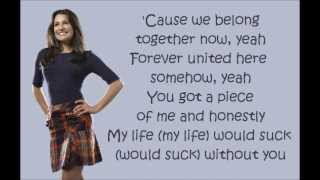 Glee - My Life Would Suck Without You (lyrics)