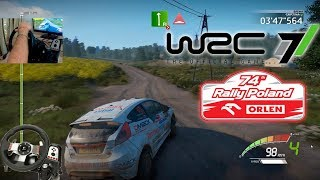 WRC 7 Rally Poland На руле Logitech G27 WRC 7 Junior