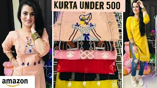 Huge Amazon Kurti Haul 2020 Kurta Haul Under 500 Only Amazon Haul Online Designer Kurti