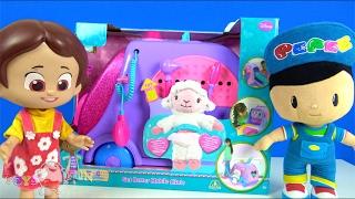 Niloya çizgi filmi bebeği ve Pepee peluş ile konuşan bebek Kuzucuk ve Doc Mcstuffins oyuncağı 4K