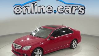 R99760NC Used 2010 Mercedes-Benz C-Class C 300 RWD 4D Sedan Red Test Drive, Review, For Sale