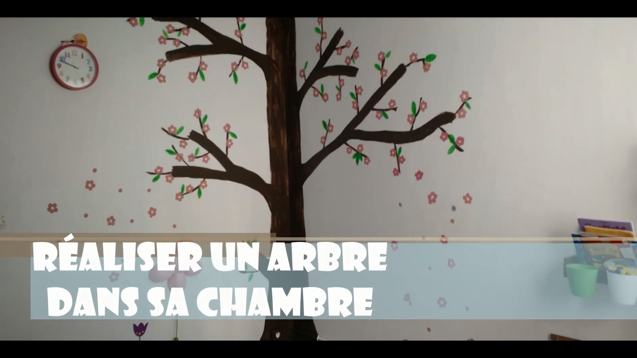 🌼 comment peindre un arbre dans une chambre d'enfant | cerisier en