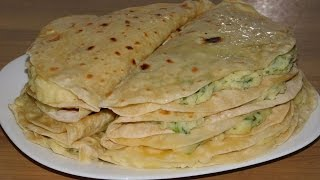 Кыстыбый. Татарская лепёшка с картофельной начинкой.