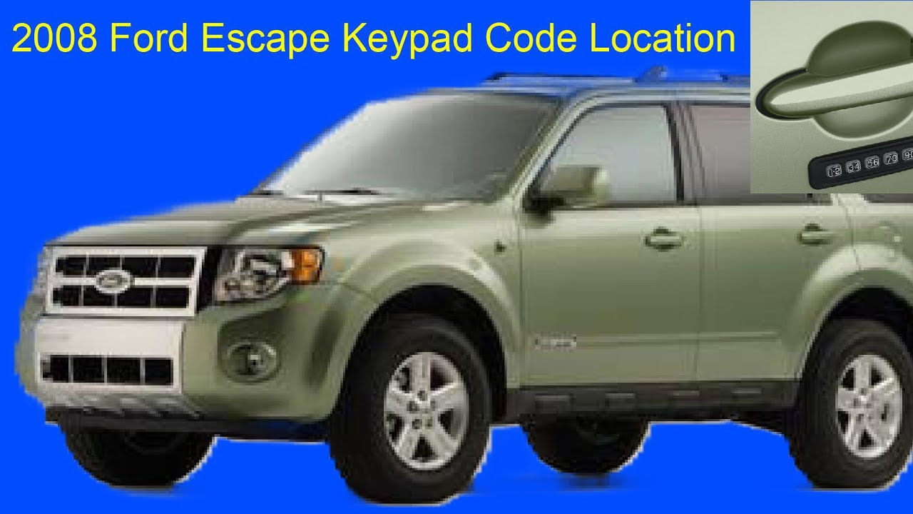 08 ford escape keyless entry code location