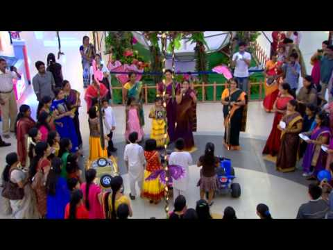 flash mob on Carnatic music @ oberon Mall  -first time ever