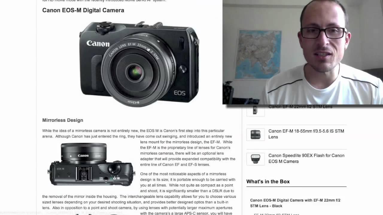 Canon EOS M - interchangeable lens compact camera - YouTube