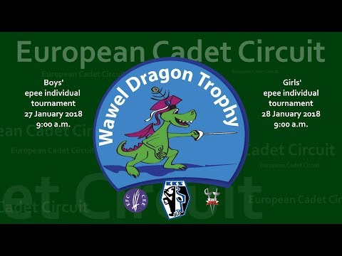 Wawel Dragon Trophy 2018 - boys' epee European Cadet Circuit competition - Cracow 2018
