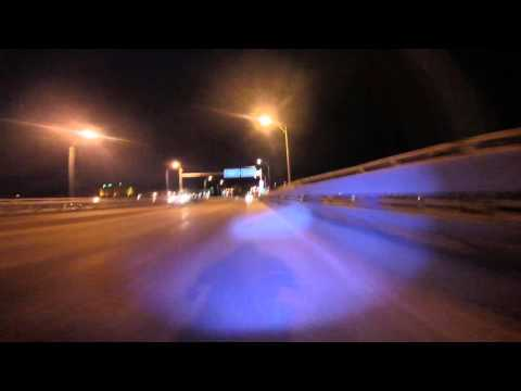 Crossing Centennial Bridge from Davenport, IA into Rock Island, IL