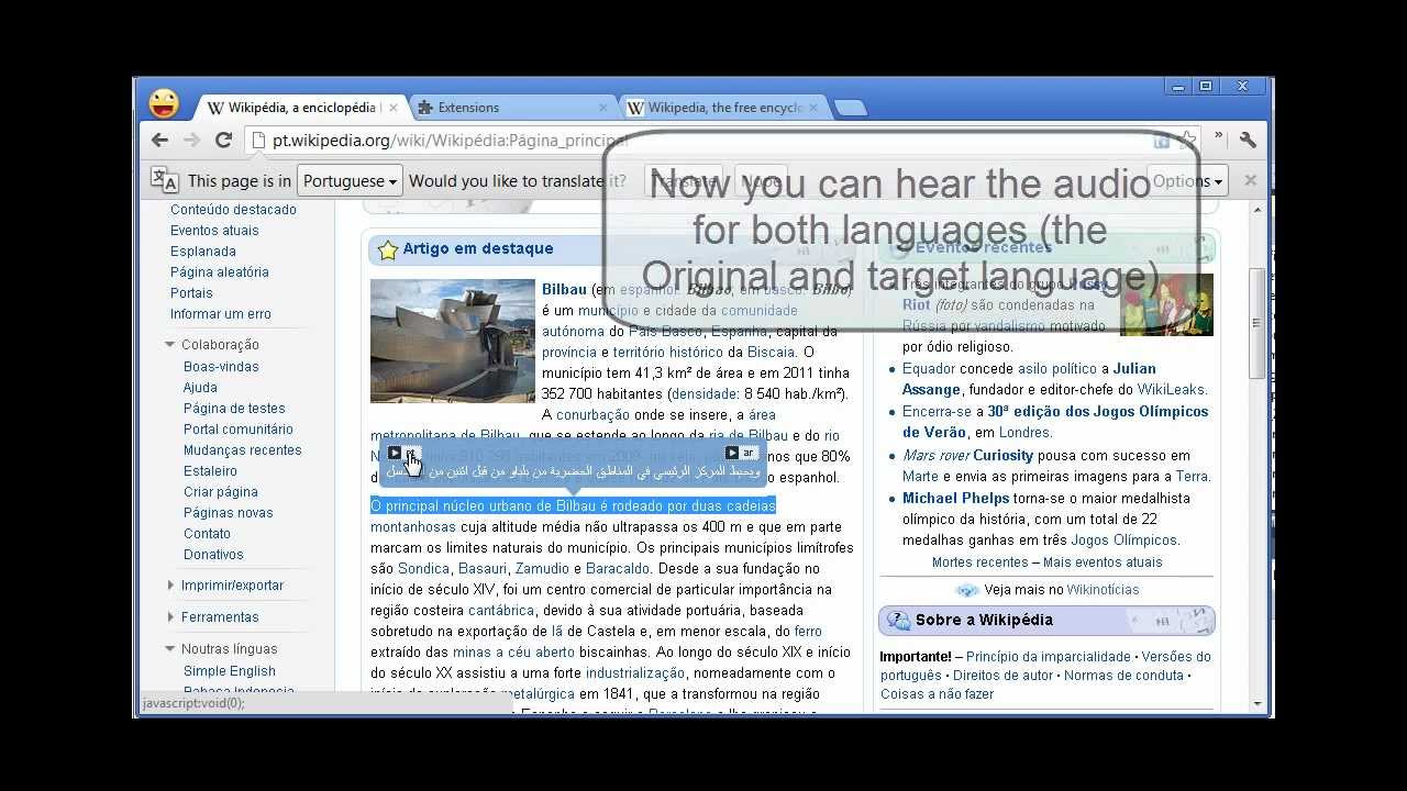 how to use google translate extension
