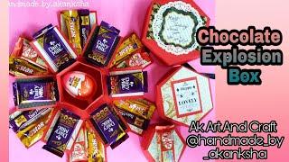 HEXAGON CHOCOLATE EXPLOSION BOX | Birthday Gift |