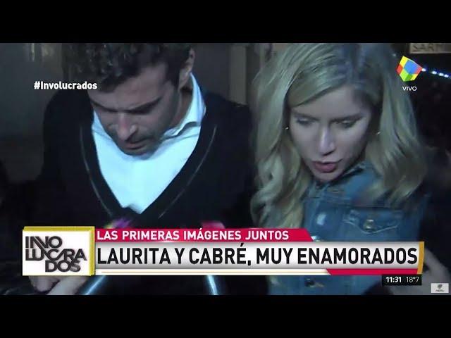 Las primeras imágenes de Laurita Fernández y Nicolás Cabré juntos