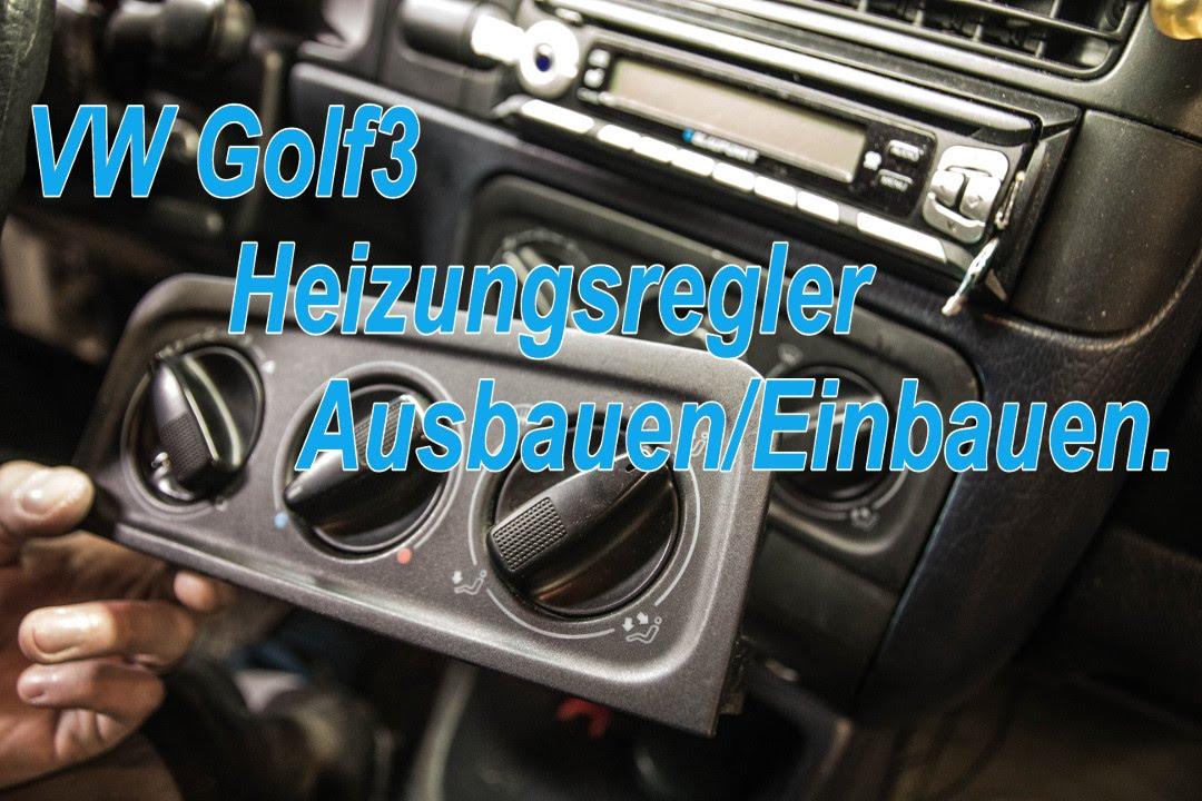 Relativ VW Golf3 Heizungsregler Ausbauen/Einbauen - YouTube YK98